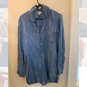 Anthropologie (cloth  & stone) button up top